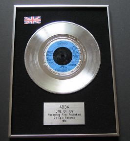 ABBA - One Of Us PLATINUM Single Presentation DISC